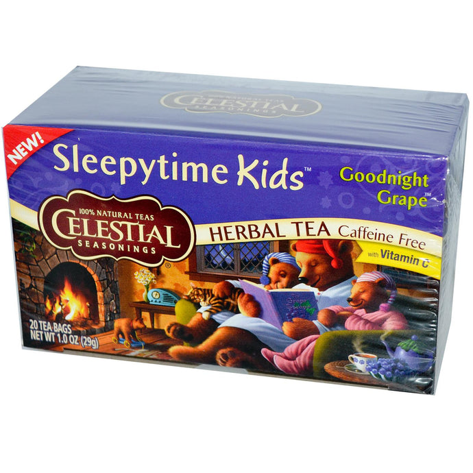 Celestial Seasonings, Herbal Tea, Sleepytime Kids, Caffeine Free, Goodnight Grape, 20 Tea Bags, 29 g