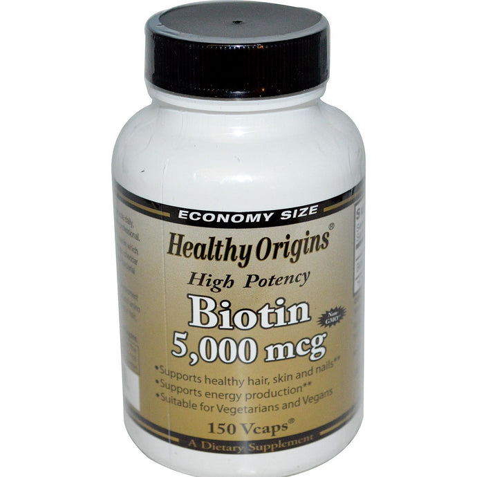 Healthy Origins Biotin 5000mcg 150 VCaps - Dietary Supplement