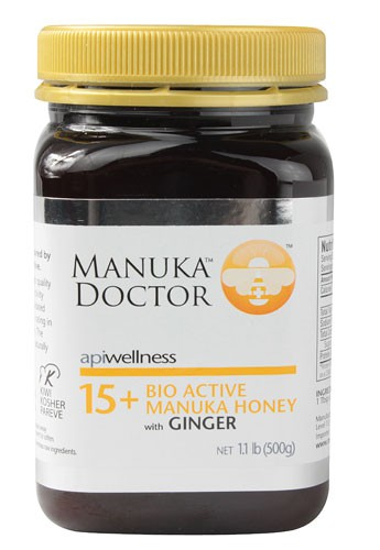 Manuka Doctor Apiwellness Bio Active 15 + Manuka Honey with Ginger 1.1 lb 500 g