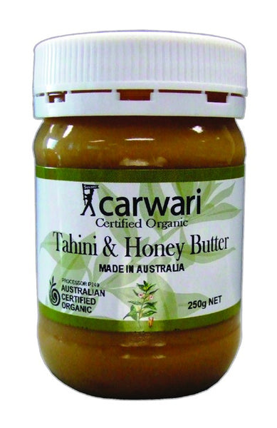 Carwari, Tahini & Honey Butter, Certified Organic, 250 g