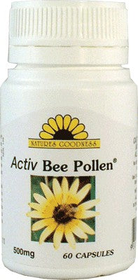 Nature's Goodness, Activ Bee Pollen, 500 mg, 60 Capsules - Supplement
