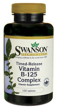 Load image into Gallery viewer, Swanson Premium Vitamin B-125 Complex Time-Release 100 Tablets