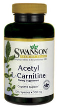Load image into Gallery viewer, Swanson Premium Acetyl L-Carnitine 500 mg 100 Capsules