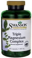 Load image into Gallery viewer, Swanson Premium Triple Magnesium Complex 300 Capsules