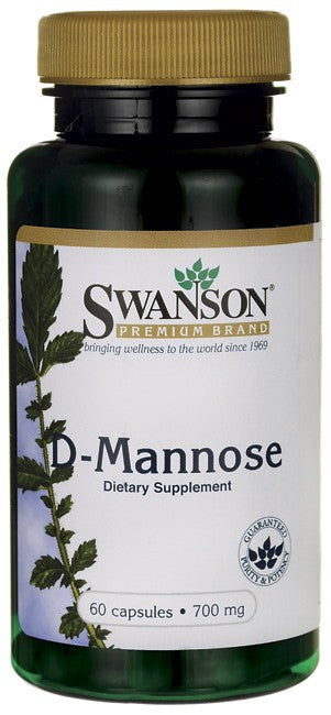 Swanson Premium D-Mannose 700 mg 60 Capsules - Dietary Supplement