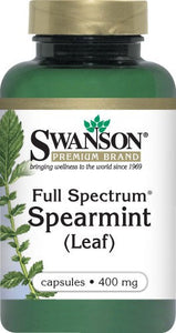 Swanson Premium Full-Spectrum Spearmint Leaf 400mg 60 Capsules