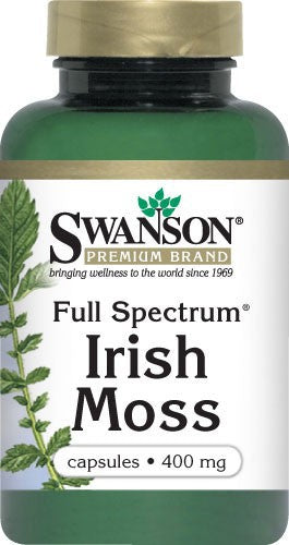 Swanson Premium Full-Spectrum Irish Moss 400mg 60 Capsules