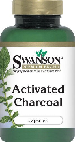Swanson Premium Activated Charcoal 260mg 120 Capsules - Supplement