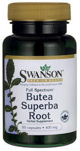 Swanson Premium Full-Spectrum Butea Superba Root Full-Spectrum 400mg 60 Capsules