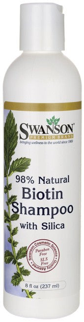 Swanson Premium Biotin Shampoo with Silica 237ml - Protein Supplements