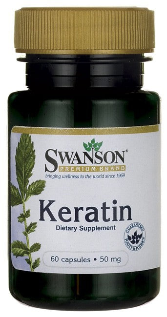 Swanson Premium Keratin 50mg 60 Capsules - Dietary Supplements