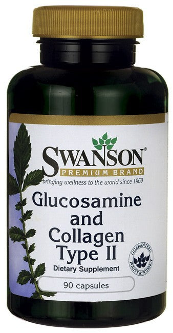 Swanson Premium Glucosamine and Collagen Type II 90Caps
