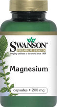 Load image into Gallery viewer, Swanson Premium Magnesium 200mg 250 Capsules