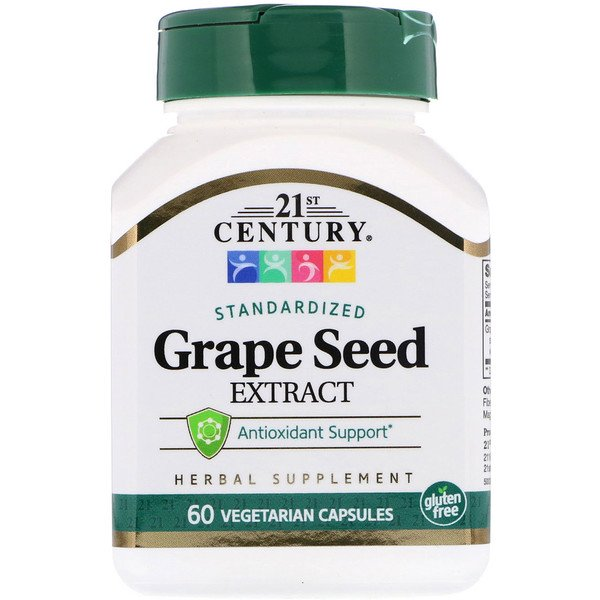21st Century, Standardized Grape Seed Extract, 60 Vegetarian Capsules