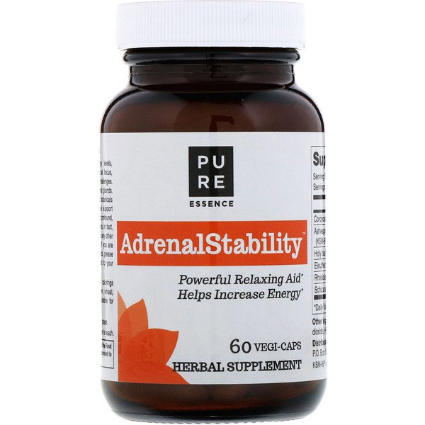 Pure Essence, AdrenalStability , 60 Vegi-Caps