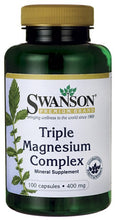Load image into Gallery viewer, Swanson Premium Triple Magnesium Complex 100 Capsules