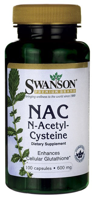 Swanson N-Acetyl Cysteine 600Mg 100 Caps - Dietary Supplement