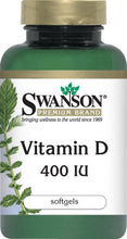 Load image into Gallery viewer, Swanson Premium Vitamin D 400IU 250 Softgels