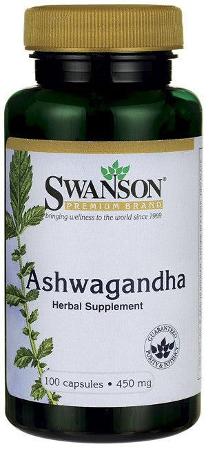 Swanson Premium Ashwagandha 450 mg 100 Capsules - Herbal Supplement
