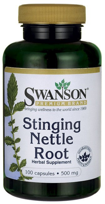 Swanson Premium Stinging Nettle Root 500mg 100 Capsules - Supplement
