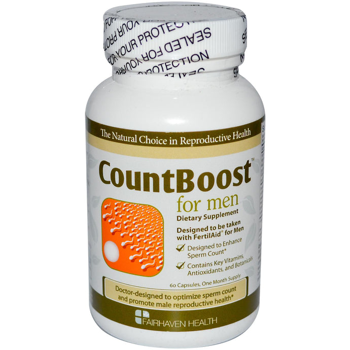 Fairhaven Health CountBoost for Men 60 Capsules - Dietary Supplement