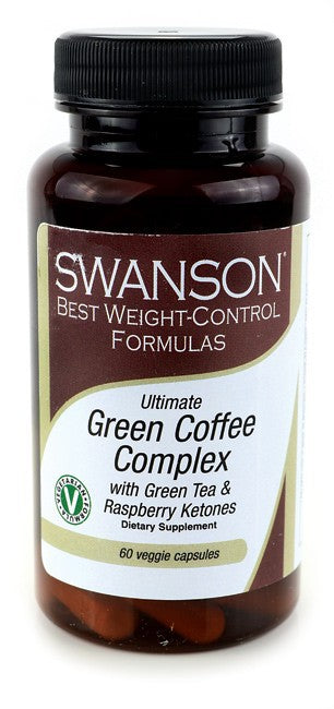 Swanson Best Weight-Control Formulas Green Coffee Complex with Green Tea & Raspberry Ketones 60 VCaps