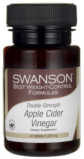 Swanson Best Weight-Control Formulas Double-Strength Apple Cider Vinegar 200mg 30 Tablets