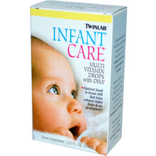 Load image into Gallery viewer, Twinlab Infant Care Multivitamin Drops with DHA 50ml