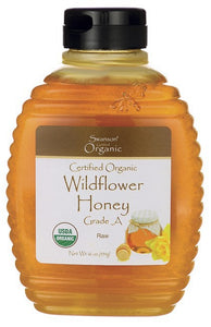 Swanson Certified Organic Raw Wildflower Honey 454gm