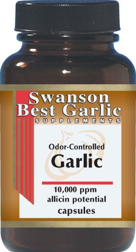 Swanson Best Garlic Supplements Odor-Controlled Garlic 500mg 100 Capsules