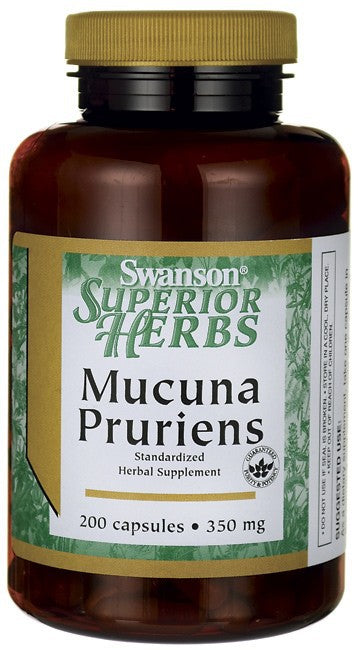 Swanson Superior Herbs Mucuna Pruriens Standardised 350mg 200 Capsules