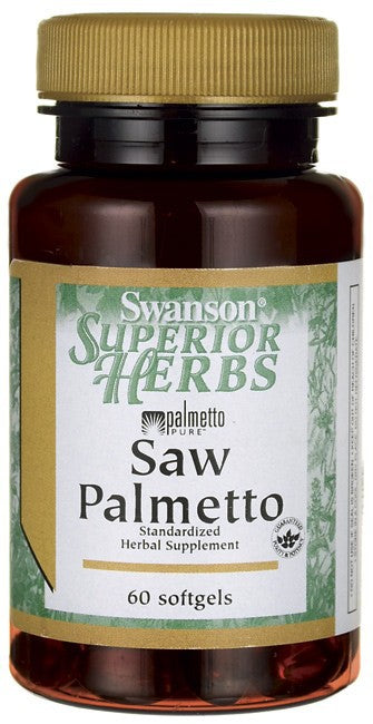 Swanson Superior Herbs Saw Palmetto 320mg 60 Softgels