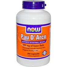 Load image into Gallery viewer, Now Foods, Pau D'Arco, 500mg, 250 Capsules