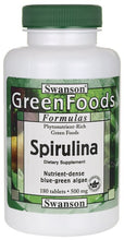Load image into Gallery viewer, Swanson GreenFoods Formulas Spirulina 500mg 180 Tablets