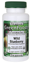 Load image into Gallery viewer, Swanson GreenFoods Formulas Wild Blueberry 250mg 90 Veggie Capsules
