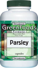 Load image into Gallery viewer, Swanson GreenFoods Formulas Parsley 650mg 90 Capsules