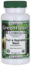 Load image into Gallery viewer, Swanson GreenFoods Formulas Fruit & Vegetable Blend 60 Veggie Capsules