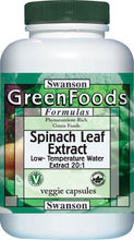 Load image into Gallery viewer, Swanson GreenFoods Formulas Spinach Leaf Extract 20:1 650mg 60 Veggie Capsules