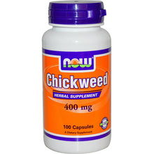 Load image into Gallery viewer, Now Foods, Chickweed, 400mg, 100 Capsules