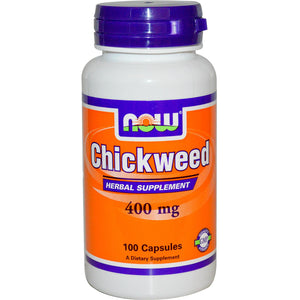 Now Foods, Chickweed, 400mg, 100 Capsules