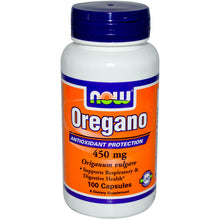 Load image into Gallery viewer, Now Foods, Oregano, 450mg, 100 capsules