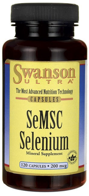 Swanson Ultra SeMSC Selenium 200mcg 120 Caps - Mineral Supplement