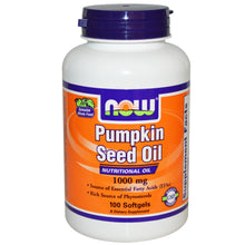 Load image into Gallery viewer, Now Foods Pumpkin Seed Oil 1000mg 100 Softgels - Dietary Supplement
