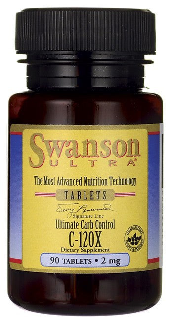 Swanson Ultra Ultimate Carb Control C-120X White Kidney Bean Extract 2mg 90 Tablets