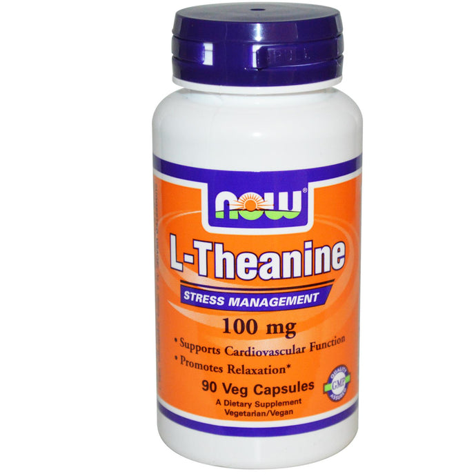Now Foods, L-Theanine, 100mg, 90 Vcaps