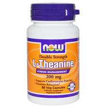 Load image into Gallery viewer, Now Foods L-Theanine Double Strength 200mg 60 Vcaps