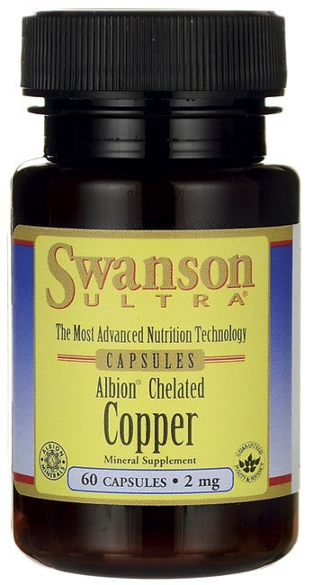 Swanson Ultra Albion Chelated Copper 2mg 60 Capsules
