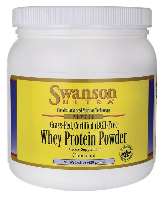 Swanson Ultra Grass-Fed Certified rBGH-Free Chocolate Whey Protein Powder 420gm