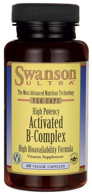 Swanson Ultra High Potency Activated B-Complex High Bioavailability 60Veg Cap