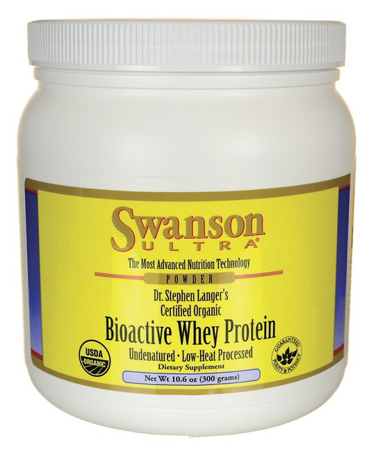 Swanson Ultra Certified Organic Undenatured Bioactive Whey Protein 10.6Oz (300G)